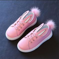Cheap cute girl sneakers, Buy Quality sneakers cute directly from China shoes girls sneakers Suppliers: 2017 cartoon PU shoes sneakers cute girls with bunny ears Child Hairball casual shoes For 4-6 year girl rubber sole casual shoes