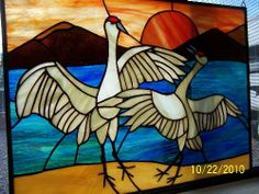 Sandhill Crane Stained Glass