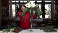 Diana Ryan, Adjunct Professor, Interior Design at Johnson County Community College demonstrates how to make three different winter holiday floral arrangements.