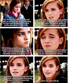 Just another reason to admire Emma Watson: she understands her father's sacrifices and she appreciates the education she received.