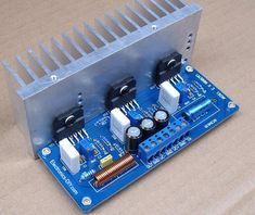 150W LM3886 Power Amplifier Electronics Projects, Electrical Projects, Diy Electronics, Electronic Kits, Electronic Schematics, Electronic Recycling, Audiophile Headphones, Stereo Amplifier, Spy Video Camera