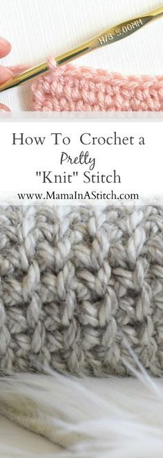 I love that knitting and crochet each have their unique looks, but sometimes I want to get the knit look from crochet. There are all kinds of beautiful 'knit' look patterns using crochet and it's becoming more and more popular. The stitch that I'm showing you today is so easy and creates a really tight, eye catching, usable fabric. I've seen this stitch called the center single crochet stitch, the waistcoat stitch and the split single crochet stitch. No matter what you call it, I think…