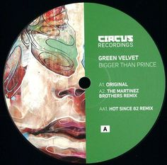 "Green Velvet ‎– Bigger Than Prince 12"" REPRESS Circus Recordings ‎– CIRCUS028T (BLACK VINYL)"