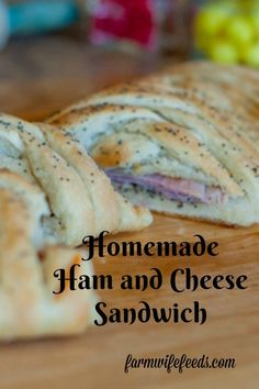 Homemade Ham and Cheese Sandwich from Farmwife Feeds is a classic ham and cheese on homemade bread with a special sauce that feeds a lot of people! #hamandcheese #sandwich #homemade
