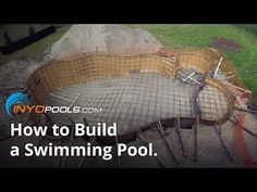 How to Build a Swimming Pool. Swimming pools are a great addition to a big back yard, creating a great way to spend time together as a family and get in some super fun exercise! It isn't the easiest building project, however. The average. Natural Swimming Ponds, Building A Swimming Pool, Swiming Pool, Swimming Pools Backyard, Shipping Container Swimming Pool, Build Your Own Pool, Lazy River Pool, Piscine Diy, Pool Contractors