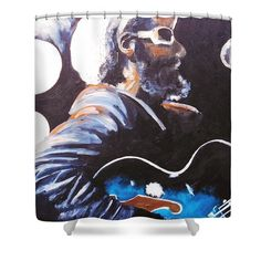 Shower Curtains - H R Shower Curtain by Kevin J Cooper Artwork