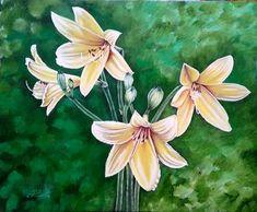 Original Floral Painting by Costin Cristian Istian Oil On Canvas, Canvas Art, Original Artwork, Original Paintings, Lily Painting, Art Oil, Buy Art, Saatchi Art, Fine Art