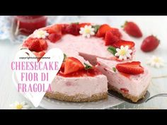 CHEESECAKE FIOR DI FRAGOLA super facile e golosa - YouTube Sweet Memories, Cheesecakes, Biscuits, Sweets, Make It Yourself, Desserts, More, Recipes, Youtube