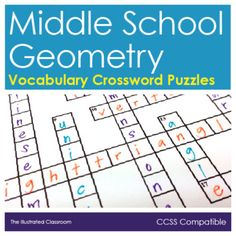 Free math worksheets geometry crossword puzzles math for sixth three different crossword keys all the versions have same words and clues but the order of the clues and the crossword grids are different malvernweather Choice Image