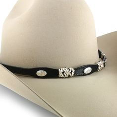 Cody James® Braided Leather Oval Concho Hat Band