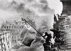 over the Reichstag in Berlin Germany 1945