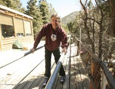 Ken Lacome practices using his new leg braces. A fundraiser has been set up by friends at KTAOS for Sunday (March 30), starting at 6:30 p.m.@ Taos, NM