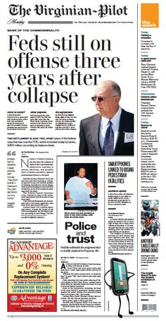 The Virginian-Pilot front page for Monday, September 22, 2014.