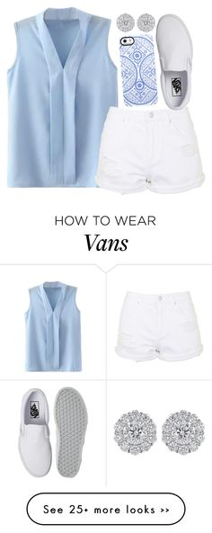 """Untitled #1180"" by ibthal-hussain on Polyvore featuring Topshop, Vans and Uncommon"