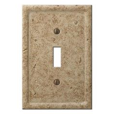 Amerelle, Texture Stone 1 Toggle Wall Plate - Noche, 8351TN at The Home Depot