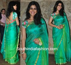 Sakshi Tanwar in a plain kota saree – South India Fashion Simple Sarees, Trendy Sarees, Stylish Sarees, Fancy Sarees, Saree Blouse Patterns, Saree Blouse Designs, Indian Beauty Saree, Indian Sarees, Indian Blouse