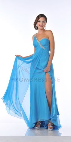 Mint+Beaded+One+Shoulder+Sweetheart+Chifon+Empire+Waistline+Side+Splitting+Long+Prom+Gown+-+S7542+S7542+$166.00+on+www.PromDressLine.Com Extra 15% Off Coupon : 2014P15OFF Expires: 3/31/2014