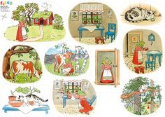 The Tale of the Little, Little Old Woman - Flanodesign Sequencing Cards, Story Sequencing, Saga, Preschool Library, Elsa Beskow, Educational Activities For Kids, Apple Roses, English Writing, Teaching Materials