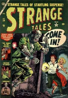 A cover gallery for the comic book Strange Tales Marvel Comic Books, Comic Books Art, Marvel Comics, Book Art, Scary Comics, Horror Comics, Horror Art, Marvel Masterworks, Strange Tales