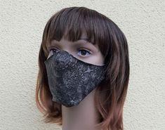 Designer Mundmaske Schutzmaske 3D Schnitt Gloves, 3d, Etsy, Fashion, Protective Mask, Masks, Handmade, Cotton, Weird