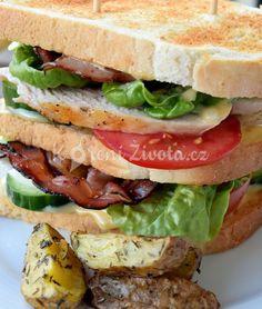 Recept na královský club sandwich s domácí majonézou :-)