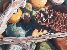 """Dianne Adams Art » """"Sticks and Stones"""" Collection.  Watercolor"""
