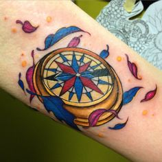 "This compass that needs no words: | 21 ""Pocahontas"" Tattoos That Truly Capture The Colors Of The Wind"