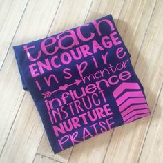 Vinyl graphic teach encourage inspire arrows by Sweettaterstn on Etsy https://www.etsy.com/listing/466196987/vinyl-graphic-teach-encourage-inspire