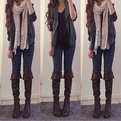 Casual outfits, outfits for teens, fall outfits, girly outfits, s Casual Outfits For Teens, Girly Outfits, Classy Outfits, Stylish Outfits, Cool Outfits, Winter Outfits, Teen Fashion, Fashion Outfits, Fashion 2018
