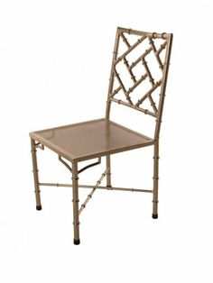 Nickel Bamboo Side Chair - Clayton Gray Home