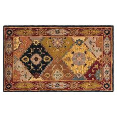 Safavieh Heritage Ghent Framed Floral Wool Rug, Brown