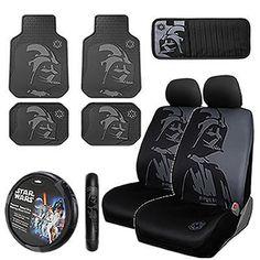 Star Wars Darth Vader Front Rear Floor Mats Car Truck Seat Cover Steering CD Set #PLASTICOLORINC