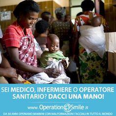 Ogni giorno regaliamo sorrisi ma non sempre è abbastanza. Tantissimi bambini aspettano ancora il nostro aiuto.  Se sei medico, infermiere o operatore sanitario dacci una mano.  Insieme possiamo fare molto di più