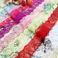 New Lace wholesale 10 Yard / lot Multicolor 4cm lace trim DIY manual embroidery laces fabric headwear clothes wedding dress acce
