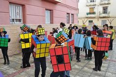 have the whole class dress up and play games! Purim Costumes, Diy Halloween Costumes For Kids, Funny Costumes, Creative Costumes, Group Costumes, Teacher Costumes, Carnival Costumes, Baby Costumes, Recycled Costumes