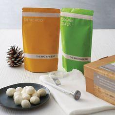 mozzarella and ricotta cheese making kit by the big cheese making kit | notonthehighstreet.com