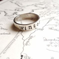 """Sterling Silver """"Winter is Coming"""" Game of Thrones Inspired Ring from The Geekery"""