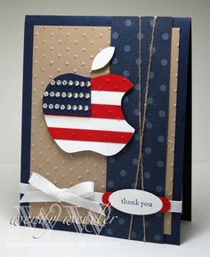Love the patriotic apple