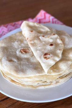 How to Make Tortillas: Homemade Tortilla Recipe Recipes With Flour Tortillas, How To Make Tortillas, Homemade Flour Tortillas, Mexican Breakfast Recipes, Mexican Dishes, Mexican Food Recipes, Tortilla Bread, Tortilla Recipe, Nutrition