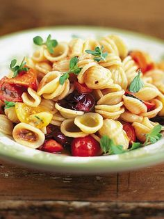 12 Pasta Dishes from Jamie Oliver: Pictured Orecchiette with raw tomato sauce