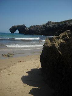 Hermosa Playa La Huelga en Llanes, Asturias