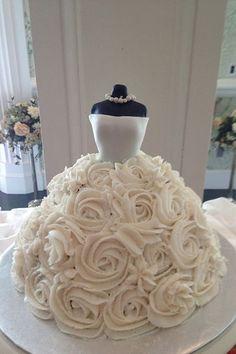 Adorable bridal shower cake