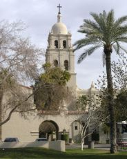 Beautiful Spanish Colonial Architecture at the Brophy Chapel in Phoenix, Arizona Arizona Travel, Colonial Architecture, Phoenix Arizona, Spanish Colonial, Nantucket, Key West, Night Club, Trip Planning, Travel Guide