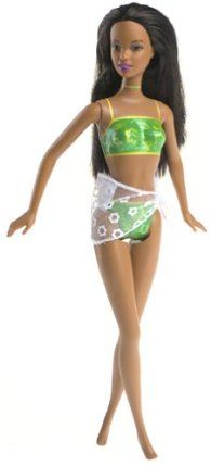Barbie Christie Palm Beach Always Dressed Doll (2001) by Mattel. $18.00. A 2001 Mattel production doll. Includes fabric sarong. Christie is Always Dressed with painted on swim suit. Christie is Always Dressed with painted on swim suit. Includes fabric sarong. A 2001 Mattel production doll