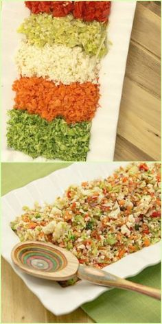 Healthy, Low Calorie, Low Fat, Chopped Vegetable Confetti Salad Recipe perfect for dinner.  Plus it's vegetarian