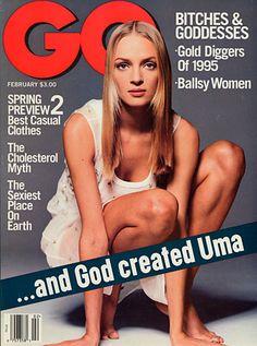 GQ Cover - Uma Thurman   February 1995