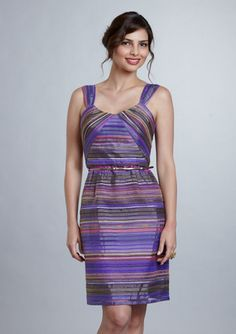 Striped Organza Dress $85 @Elena Garcia what do you think about this one?