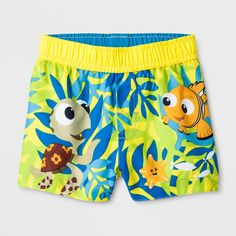 88c1cb4e5b Baby Boys' Disney Finding Nemo Swim Trunks - Yellow 6-9M Swim School,