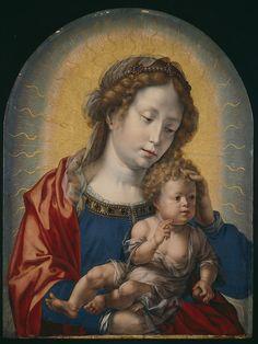 Virgin and Child / La Virgen y el Niño // c. 1520 // Jan Gossart // The Art Institute of Chicago // #ChildJesus #VirginMary