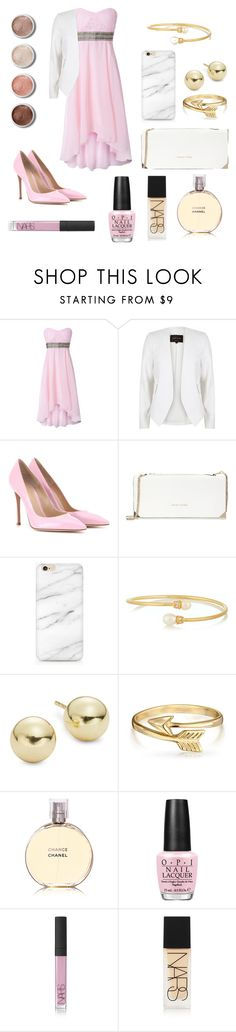"""Untitled #4"" by inspihration ❤ liked on Polyvore featuring River Island, Gianvito Rossi, Trina Turk, Kenneth Jay Lane, Lord & Taylor, Bling Jewelry, Chanel, OPI, NARS Cosmetics and Terre Mère"